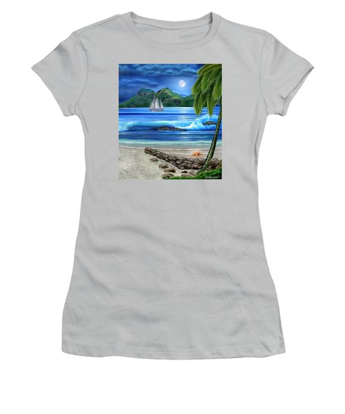 Tropical Paradise Women's T-Shirt (Junior Cut) by Glenn Holbrook