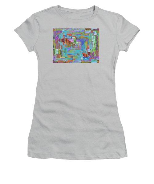 Topographic Albatross Women's T-Shirt (Junior Cut) by Tim Allen