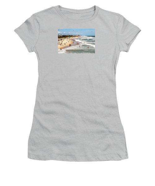 Tourist At Kure Beach Women's T-Shirt (Junior Cut) by Cynthia Guinn