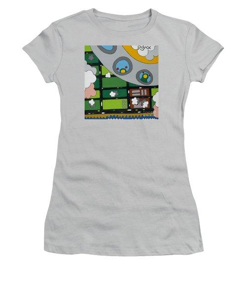 Tourists Women's T-Shirt (Junior Cut) by Rojax Art