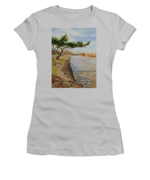 Tree With Lake Women's T-Shirt (Athletic Fit)