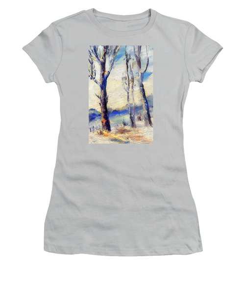 Trees In Winter Women's T-Shirt (Athletic Fit)