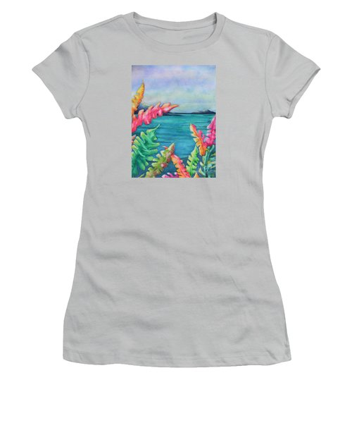 Tropical Scene Women's T-Shirt (Athletic Fit)