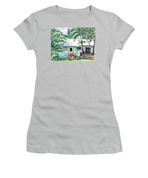 Tropical Vacation Cottage Women's T-Shirt (Junior Cut) by Marionette Taboniar