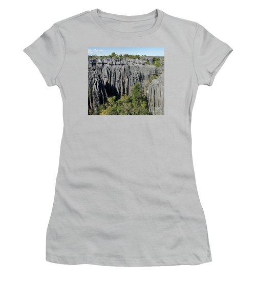 Tsingy De Bemaraha Madagascar 1 Women's T-Shirt (Junior Cut) by Rudi Prott