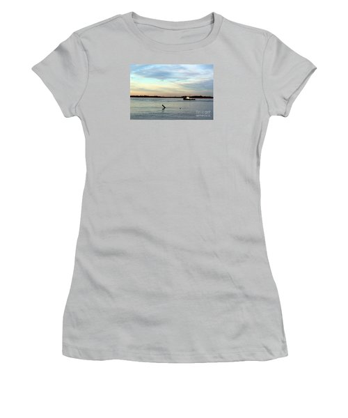 Women's T-Shirt (Junior Cut) featuring the photograph Tug Boat by David Jackson