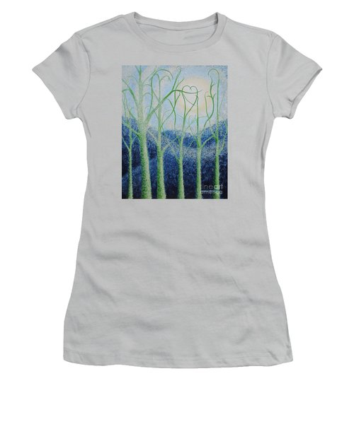 Women's T-Shirt (Junior Cut) featuring the painting Two Hearts by Holly Carmichael