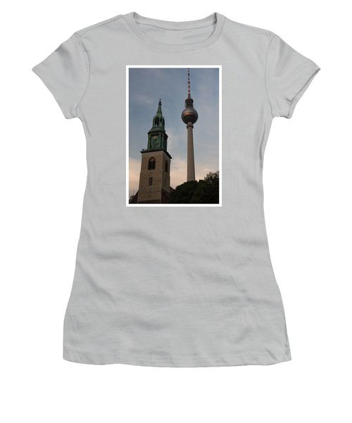 Two Towers In Berlin Women's T-Shirt (Athletic Fit)