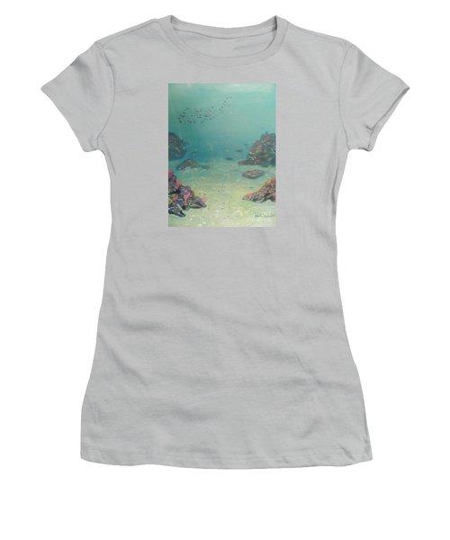 Under The Sea Women's T-Shirt (Junior Cut) by Pamela  Meredith