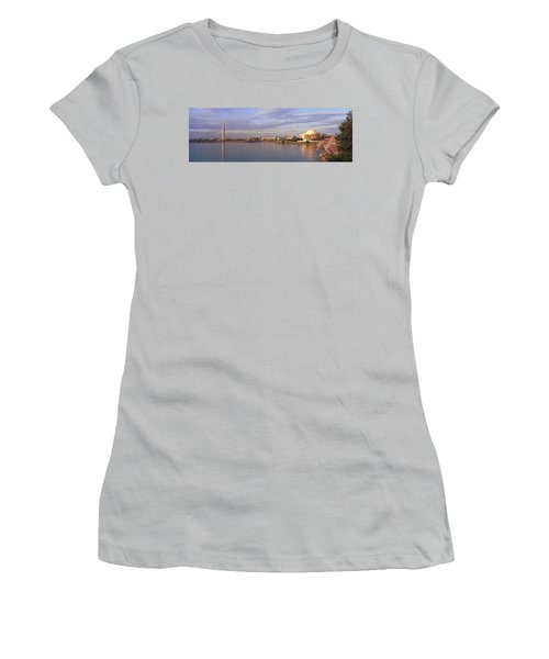 Usa, Washington Dc, Tidal Basin, Spring Women's T-Shirt (Athletic Fit)