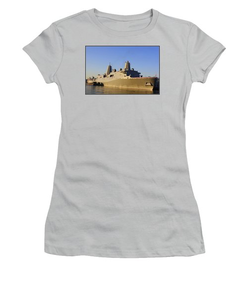 Uss New York - Lpd21 Women's T-Shirt (Junior Cut) by Dora Sofia Caputo Photographic Art and Design