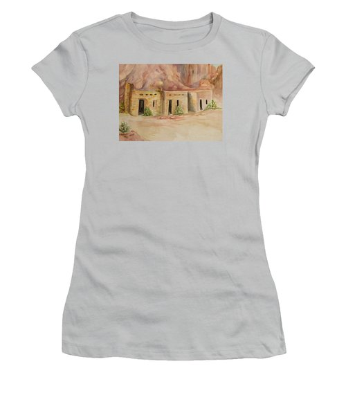 Valley Of Fire Cabins Women's T-Shirt (Athletic Fit)