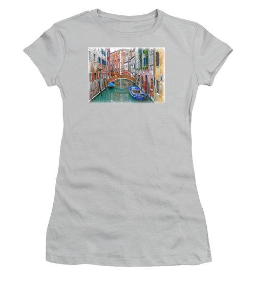 Women's T-Shirt (Junior Cut) featuring the photograph Venetian Idyll by Hanny Heim