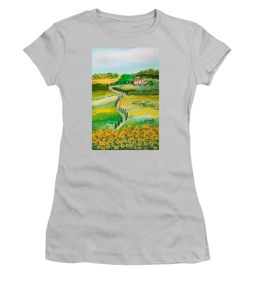Verde Sentiero Women's T-Shirt (Athletic Fit)