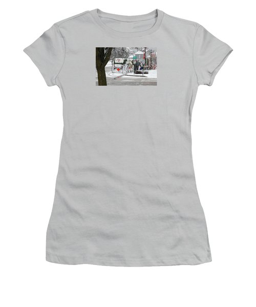 Waiting To Give A Ride Women's T-Shirt (Junior Cut) by Janice Adomeit