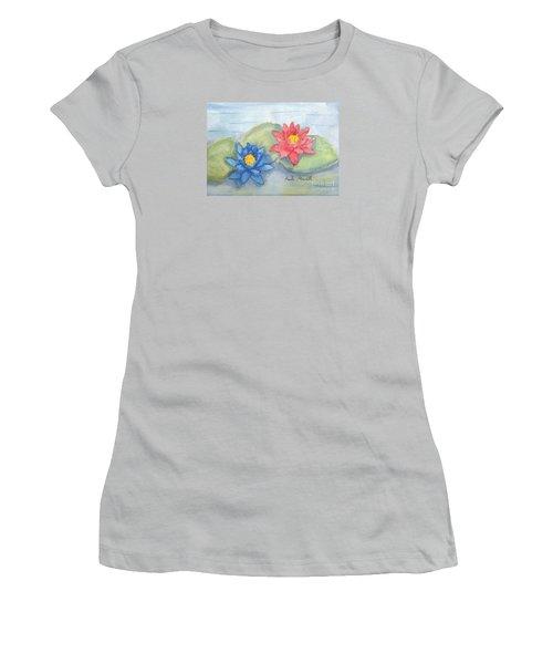 Water   Lillies  Women's T-Shirt (Junior Cut) by Pamela  Meredith