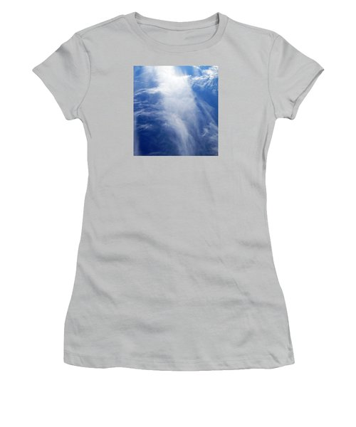 Waterfall In The Sky Women's T-Shirt (Junior Cut) by Belinda Lee