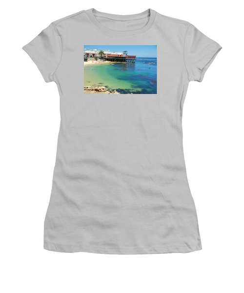 Waterfront At Cannery Row Women's T-Shirt (Junior Cut) by Jonah  Anderson