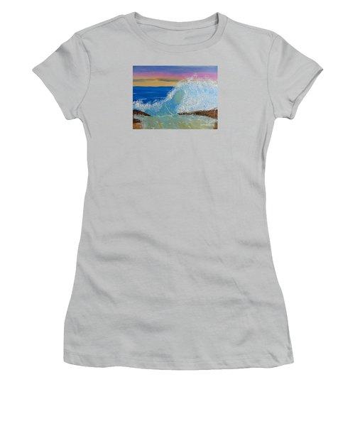 Wave At Sunrise Women's T-Shirt (Athletic Fit)