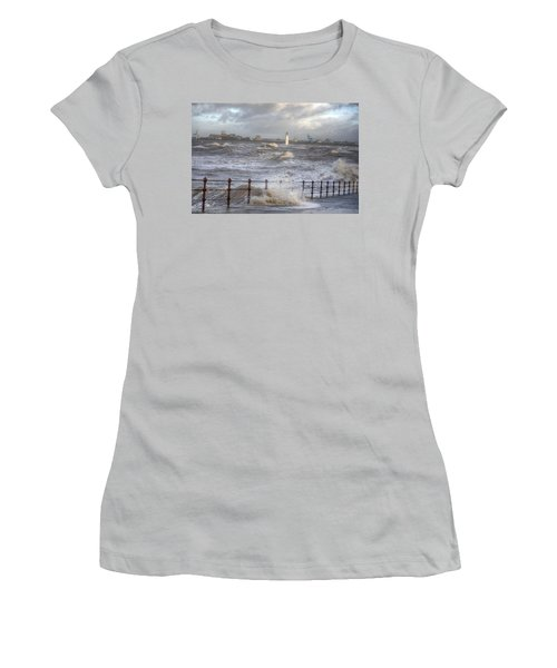 Waves On The Slipway Women's T-Shirt (Athletic Fit)