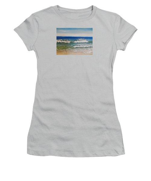 Waves Women's T-Shirt (Junior Cut) by Pamela  Meredith