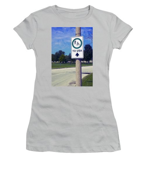 Way To The Usa Women's T-Shirt (Athletic Fit)