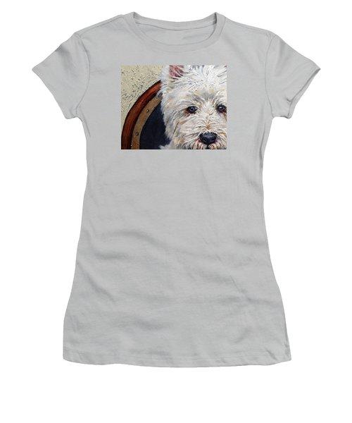 West Highland Terrier Dog Portrait Women's T-Shirt (Athletic Fit)