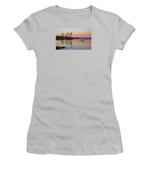 Whakatane At Sunset Women's T-Shirt (Junior Cut) by Venetia Featherstone-Witty
