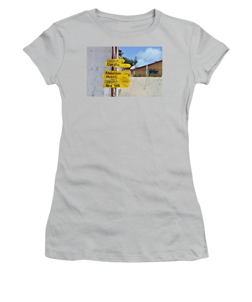 Where Should I Go Next Women's T-Shirt (Athletic Fit)