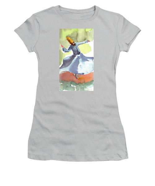 Whirling Dervish Women's T-Shirt (Junior Cut) by Faruk Koksal