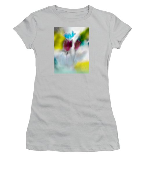 Women's T-Shirt (Junior Cut) featuring the digital art Whisper by Frank Bright