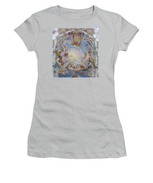 Wies Pilgrimage Church Bavaria Fresko Women's T-Shirt (Junior Cut) by Rudi Prott