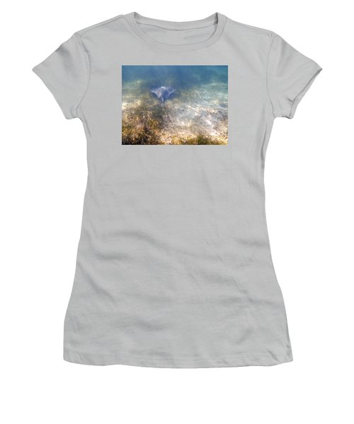 Women's T-Shirt (Junior Cut) featuring the photograph Wild Sting Ray by Eti Reid