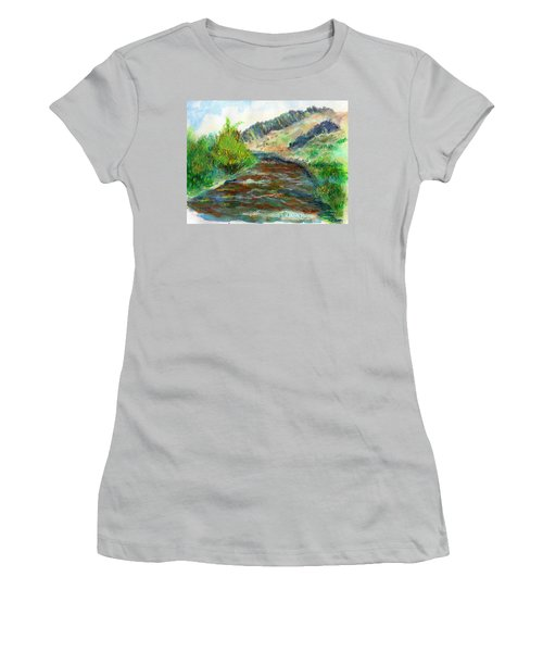 Willow Creek In Spring Women's T-Shirt (Junior Cut) by C Sitton