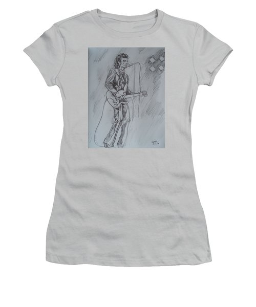 Mink Deville - Steady Drivin' Man Women's T-Shirt (Junior Cut) by Sean Connolly