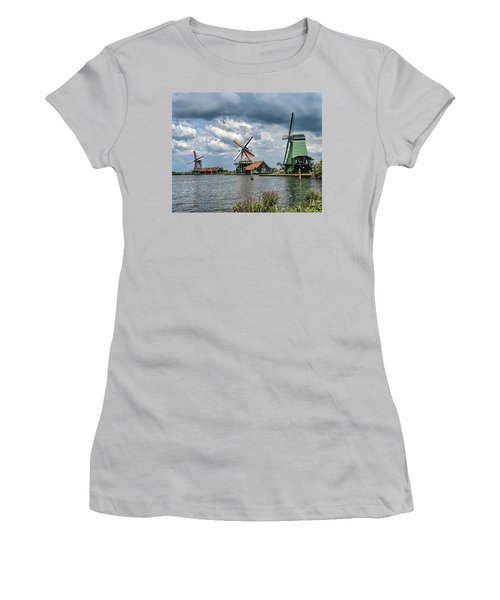 Windmill Trio Women's T-Shirt (Athletic Fit)