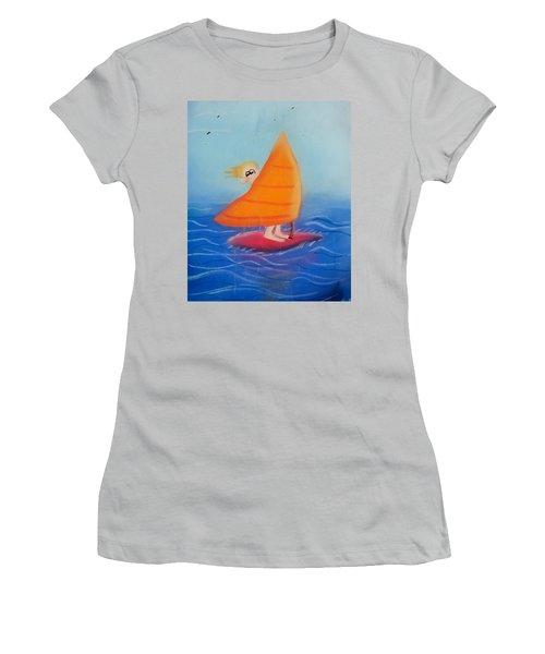 Windsurfer Dude Women's T-Shirt (Junior Cut) by Joshua Maddison