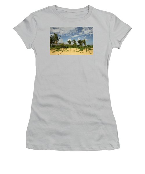 Windy Palms Women's T-Shirt (Athletic Fit)