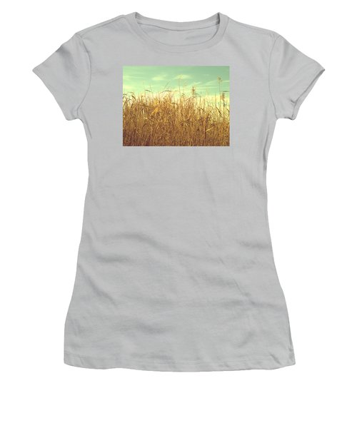 Winter Grass Women's T-Shirt (Athletic Fit)
