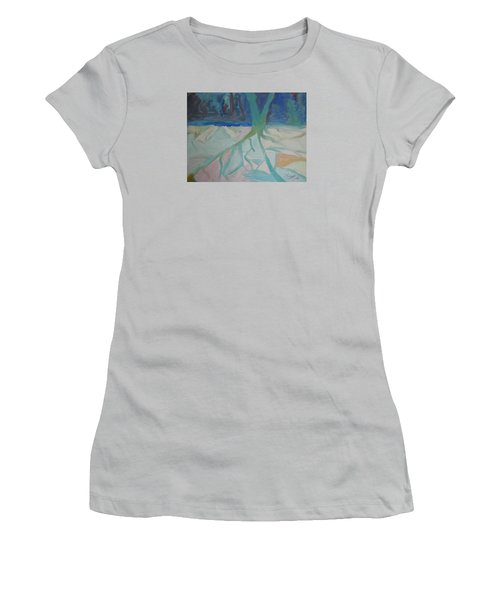 Winter Night Shadows Women's T-Shirt (Athletic Fit)