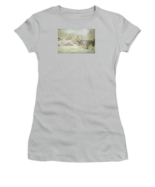 Women's T-Shirt (Athletic Fit) featuring the photograph Winter Silence by Julie Palencia