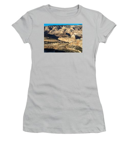 Yampa River Canyon In Dinosaur National Monument Women's T-Shirt (Junior Cut) by Nadja Rider