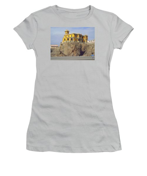 Women's T-Shirt (Junior Cut) featuring the photograph Yellow On The Rocks by Lew Davis