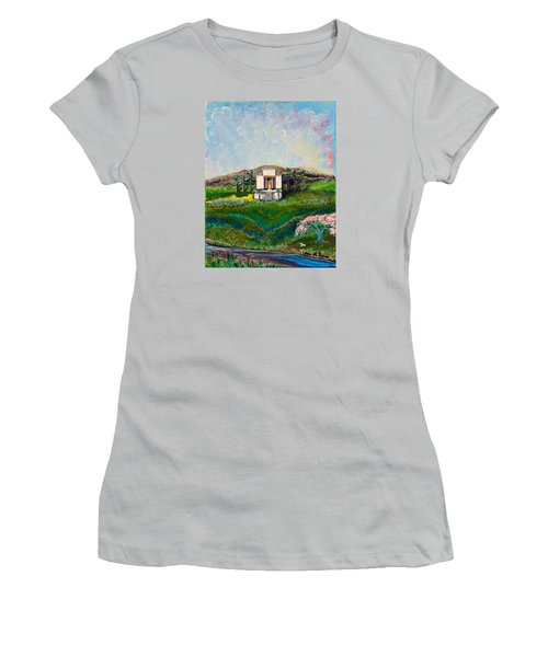 Women's T-Shirt (Junior Cut) featuring the painting You Are The Temple Of God by Cassie Sears