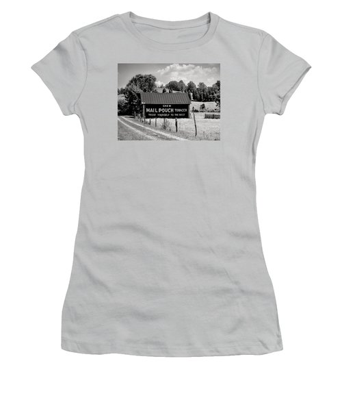 Women's T-Shirt (Junior Cut) featuring the photograph Mail Pouch Barn by Mary Almond