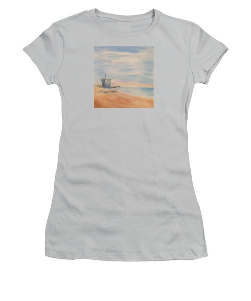 Morning By The Beach Women's T-Shirt (Junior Cut) by Debbie Lewis