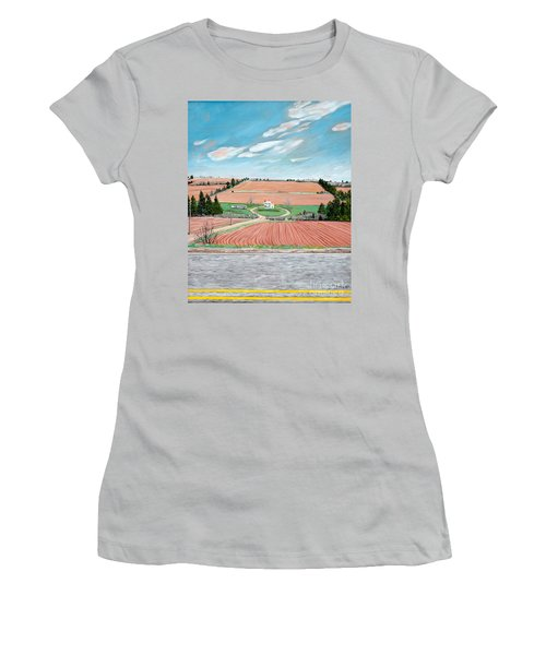Red Soil On Prince Edward Island Women's T-Shirt (Athletic Fit)