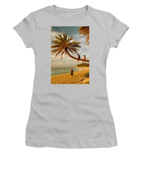 Sunset Beach Oahu Women's T-Shirt (Junior Cut) by Mark Gilman