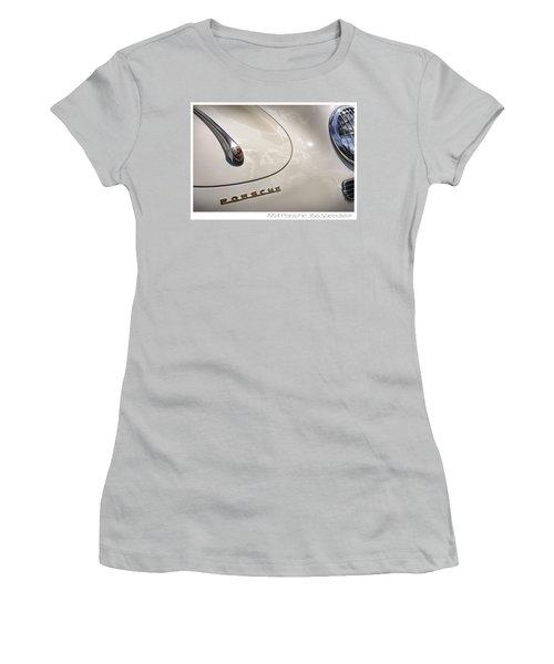 Women's T-Shirt (Junior Cut) featuring the photograph 1954 Porsche 356 Speedster by Gordon Dean II