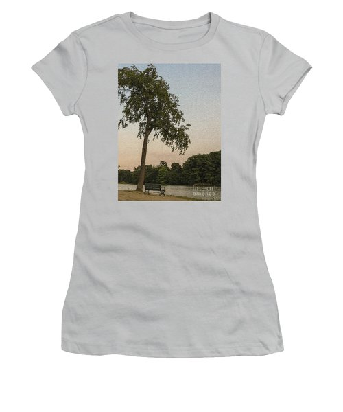 A Lonely Park Bench Women's T-Shirt (Athletic Fit)